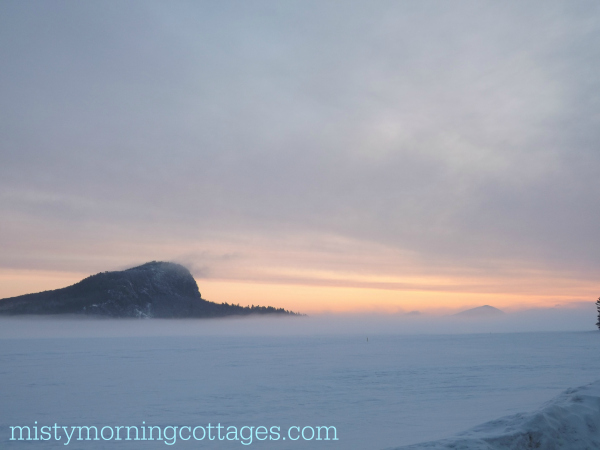 Mt. Kineo on Moosehead Lake - April 2015